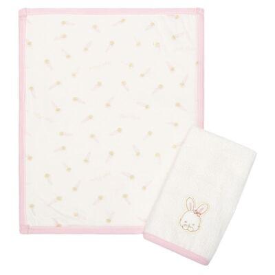 Imagem 1 do produto Kit com 2 fraldas de boca atoalhadas Ma Petite Rabbit - Classic for Baby