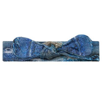 Imagem 1 do produto Faixa de cabelo em lycra Laço Destroyed Blue - Letiti