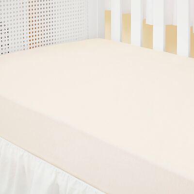 Imagem 2 do produto Kit: 2 Lençóis de baixo para berço em malha Marfim/Branco - Biramar Baby