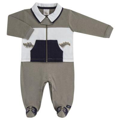 Imagem 1 do produto Macacão longo para bebe em suedine Crocodile - Anjos Baby - AB171120.018 MACACAO LONGO MASC T11-G