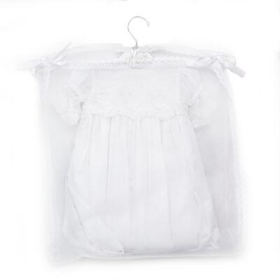 Imagem 4 do produto Mandrião Batizado para bebe Pérolas & Renda Branco - Roana
