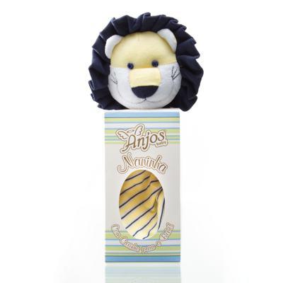 Imagem 1 do produto Naninha Chocalho em malha Leão - Anjos Baby