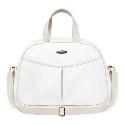 Imagem 2 do produto Kit Bolsa maternidade para bebe + Frasqueira Branco/Marfim Unique - Classic for Baby Bags
