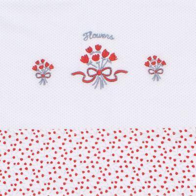 Imagem 2 do produto Jogo de lençol para berço em malha Tulip Bouquet - Classic for Baby