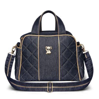 Imagem 4 do produto Kit Mala maternidade para bebe + Bolsa Toledo + Frasqueira Santiago Golden Denim - Classic for Baby Bags