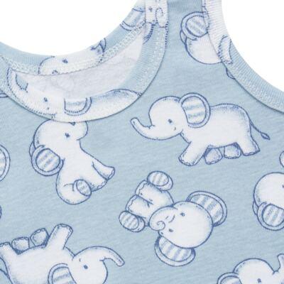 Imagem 5 do produto Pack Elefantinho: 02 regatas em high comfort - Vicky Baby - 1021-713 ELEF AZUL PK 2 RGT BEBE SUED HIGH-P
