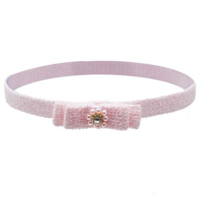 Imagem 1 do produto Faixa em tricot Pérolas & Strass Rosa - Roana