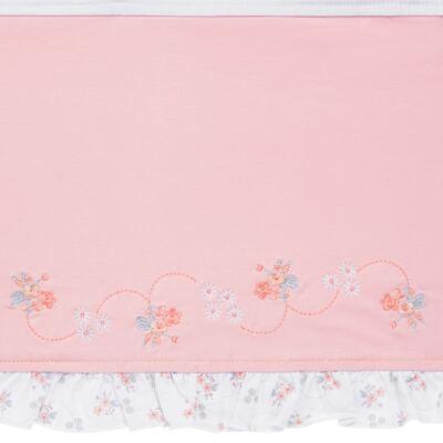 Imagem 2 do produto Jogo de lençol para berço em malha Little Pink Flowers - Anjos Baby
