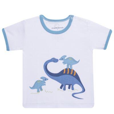 Imagem 2 do produto Pijama curto para bebe em suedine Dino - Dedeka - DDK17123/L44 Pijama Ribana Azul Sereno-M
