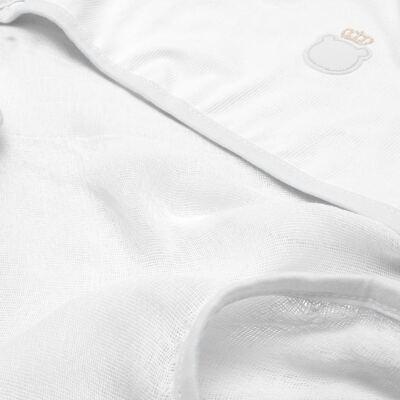 Imagem 2 do produto Toalha Fralda com Capuz Ursinho Branco - Classic for Baby