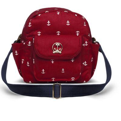 Imagem 1 do produto Bolsa Térmica para bebe Toulon em sarja Navy Vermelho -  Classic for Baby Bags