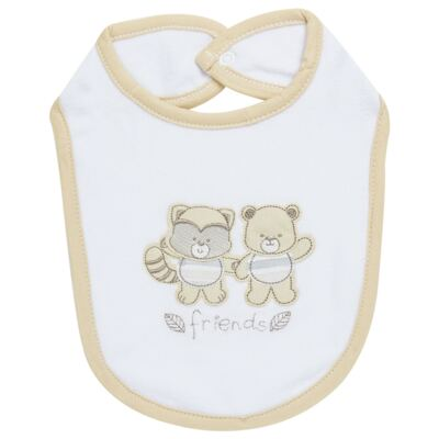 Babador para bebe atoalhado Nature Little Friends - Classic for Baby