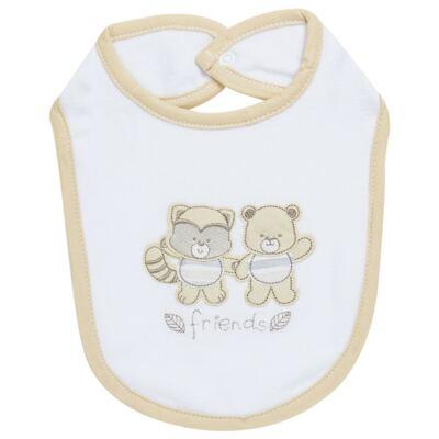 Imagem 1 do produto Babador para bebe atoalhado Nature Little Friends - Classic for Baby