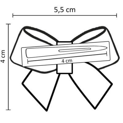 Imagem 3 do produto Presilha em cetim Laço Pérolas Vermelha - Roana