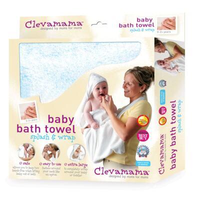 Imagem 3 do produto Kit: 2 Toalhas Mamãe Bebê com capuz Branca e Azul - Clevamama