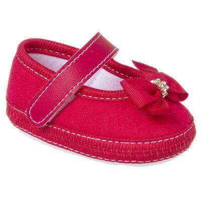 Imagem 1 do produto Sapatilha para bebê Laço & Strass Vermelha - Keto Baby - KB1091-4 SAPATO PARA BEBE VERMELHO FEM-15