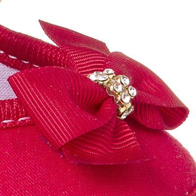 Imagem 2 do produto Sapatilha para bebê Laço & Strass Vermelha - Keto Baby - KB1091-4 SAPATO PARA BEBE VERMELHO FEM-15