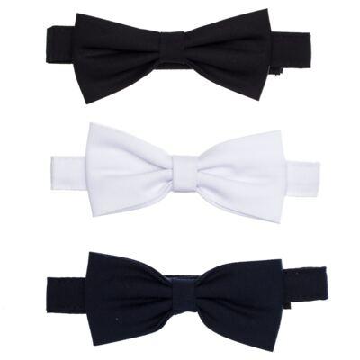 Imagem 1 do produto Kit: 3 gravatas borboleta Branca/Preta/Marinho - Roana