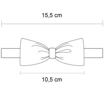 Imagem 4 do produto Kit: 3 gravatas borboleta Branca/Preta/Marinho - Roana