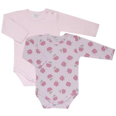 Imagem 1 do produto Kit 2 Bodies longos para bebe Flowery - Vicky Lipe - LTPBML10 PACK 2 BODEIS ML FLORIDO/LILÁS-M