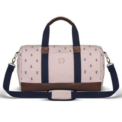 Imagem 1 do produto Bolsa Passeio para bebe em sarja Navy Rosa - Classic for Baby Bags