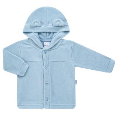 Imagem 1 do produto Casaco Orelhinha para bebe em microsoft Azul - Piu-Piu - PIU81032.021 CASACO SOFT COM ORELHINHAS AZUL-M