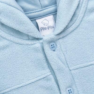 Imagem 2 do produto Casaco Orelhinha para bebe em microsoft Azul - Piu-Piu - PIU81032.021 CASACO SOFT COM ORELHINHAS AZUL-M