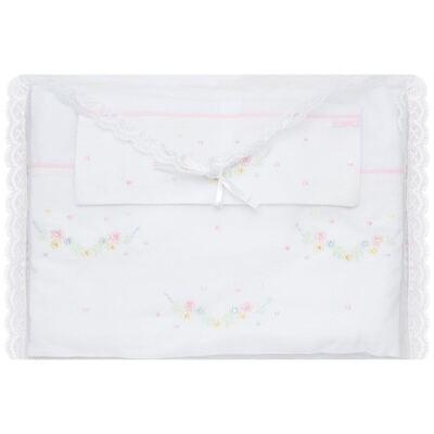 Imagem 2 do produto Jogo de lençol em malha para berço Flores - Roana