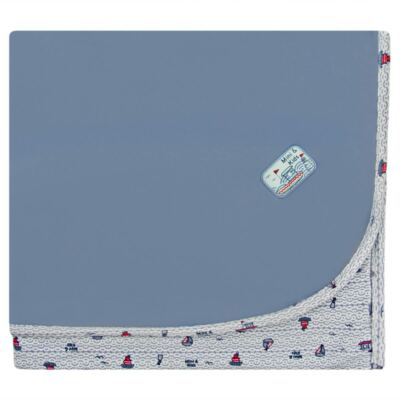 Imagem 1 do produto Manta dupla face em algodão egípcio c/ jato de cerâmica e filtro solar fps 50 Boat - Mini & Kids