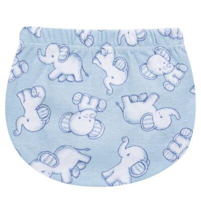 Imagem 3 do produto Pack Elefantinho: 02 Cobre Fraldas para bebe em high comfort - Vicky Baby - 1022-713 ELEF AZUL PK 2 COBRE BEBE SUED HIGH -G