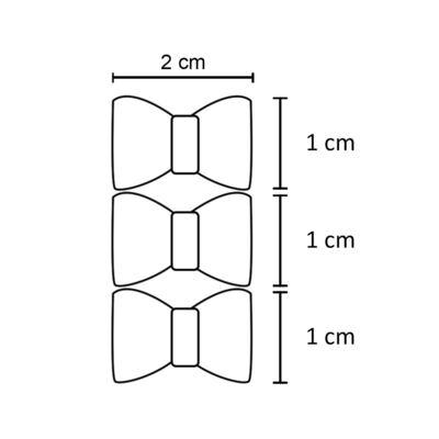 Imagem 2 do produto Kit: 3 Laços c/ velcro em renda & strass Branco - Roana