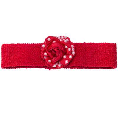 Imagem 5 do produto Sapatinho em tricot com Faixa Flor & Pérolas Vermelha - Roana
