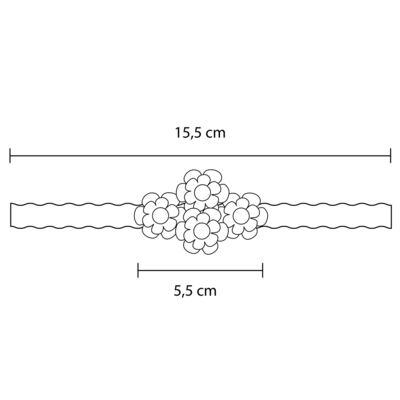 Imagem 3 do produto Faixa de cabelo trançada Bouquet & Pérolas Marfim - Roana