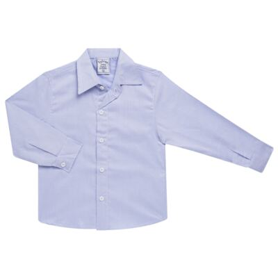 Imagem 1 do produto Camisa para bebe em tricoline Listras Azul - Sylvaz - SZ767 CAMISA LISTRAS ML AZUL-3