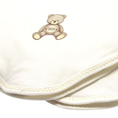 Imagem 2 do produto Manta acolchoada em Pima Cotton Supreme Prime Bear Marfim - Mini & Kids