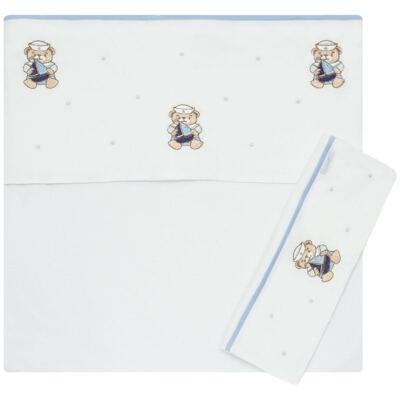 Imagem 1 do produto Jogo de lençol em malha para berço Marinheiro - Roana