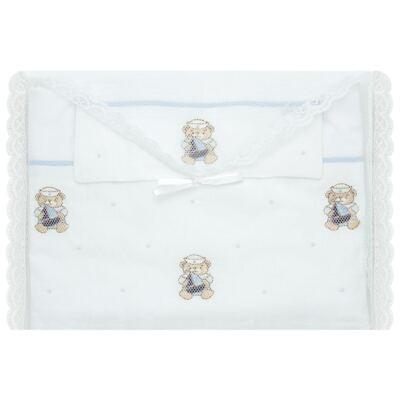 Imagem 2 do produto Jogo de lençol em malha para berço Marinheiro - Roana