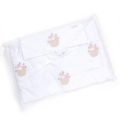 Imagem 3 do produto Jogo de lençol para berço em malha Florzinhas - Roana