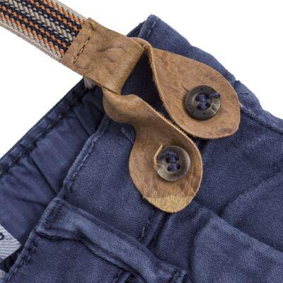 Imagem 2 do produto Calça & Suspensório jeans masculina para bebê Denim - Toffee & Co. - 4253 CALÇA BABY SAR SUSP MASC SARJA AZUL ESCURO-P