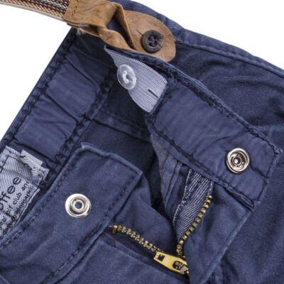 Imagem 3 do produto Calça & Suspensório jeans masculina para bebê Denim - Toffee & Co. - 4253 CALÇA BABY SAR SUSP MASC SARJA AZUL ESCURO-P