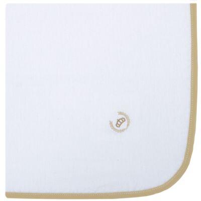 Imagem 1 do produto Cueiro em flanela Coroinha Marfim - Classic for Baby