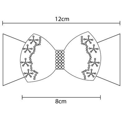 Imagem 3 do produto Faixa meia Laço Renda & Pérolas Marfim - Roana