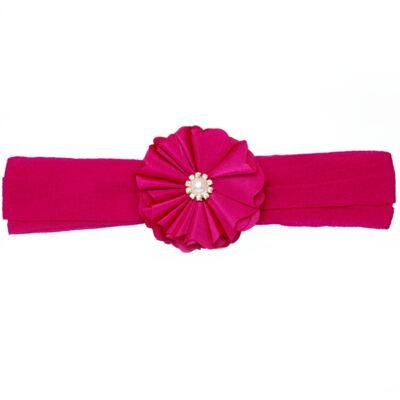 Imagem 1 do produto Faixa meia Flor Pérola & Strass Pink - Roana