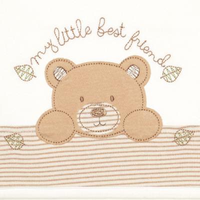 Imagem 2 do produto Jogo de lençol para carrinho em algodão egípcio c/ jato de cerâmica e filtro solar fps 50 Nature Little Friend Bear - Classic for Baby