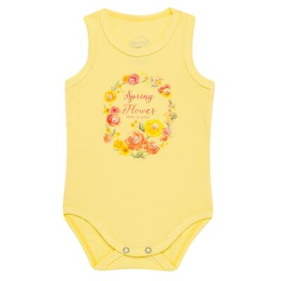 Body regata para bebe em spandex Spring Flower - Mini & Kids - BRNE1650 BODY NADADOR EXPAND FLORAL 3-M