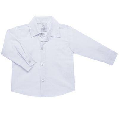 Imagem 3 do produto Camisa & Gravata c/ Calça para bebe em tricoline Branco - Sylvaz - SZ745 CONJUNTO BATIZADO C/ GRAVATA BRANCO-M