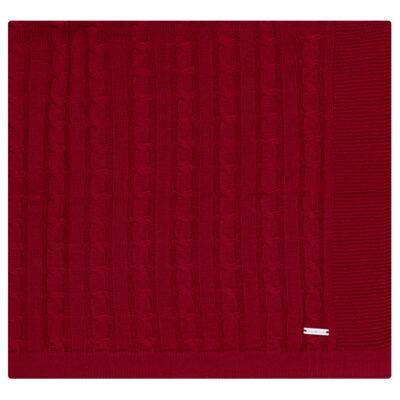 Imagem 1 do produto Manta em tricot Vermelho - Baby Classic