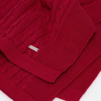Imagem 3 do produto Manta em tricot Vermelho - Baby Classic