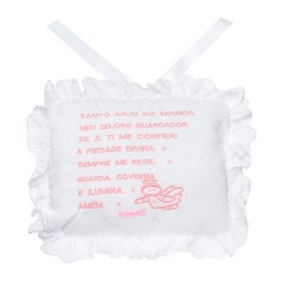 Imagem 1 do produto Almofada Santo Anjo para bebe em piquet Rosa - Roana