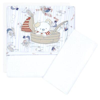 Imagem 1 do produto Jogo de lençol para carrinho em malha Sailing Dog - Classic for Baby
